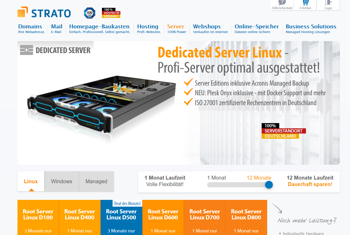 Dedicated root server gunstig